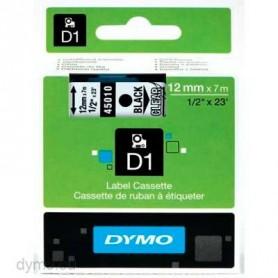 Cinta D1 12 mm Dymo negro sobre transparente