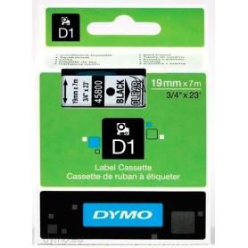 Cinta D1 19 mm Dymo negro sobre transparente