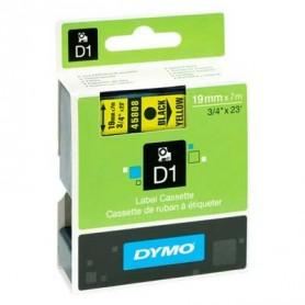 Cinta D1 19 mm Dymo negro sobre amarillo