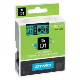 Cinta D1 19 mm Dymo negro sobre verde