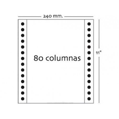 """Papel Continuo 240 mm x 11"""" Liso 3 hojas"""