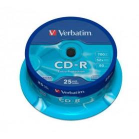 Tarrina CD Verbatim 25 uds