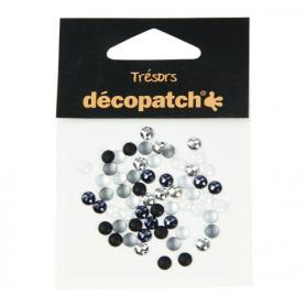 Tresors Redondos Blanco/Negro Décopatch