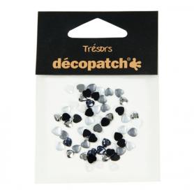 Tresors Corazones Blanco/Negro Décopatch