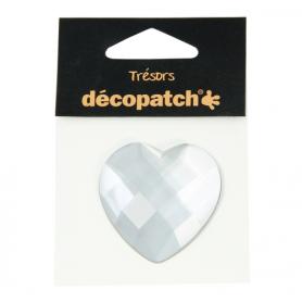 Tresors Corazón Blanco Décopatch