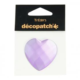 Tresors Corazón Lila Décopatch