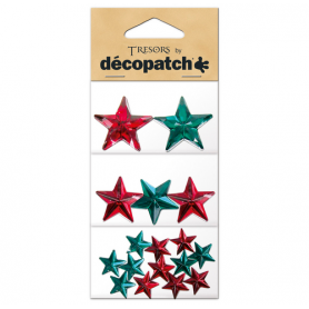 Tresors Estrellas rojas/verdes Décopatch