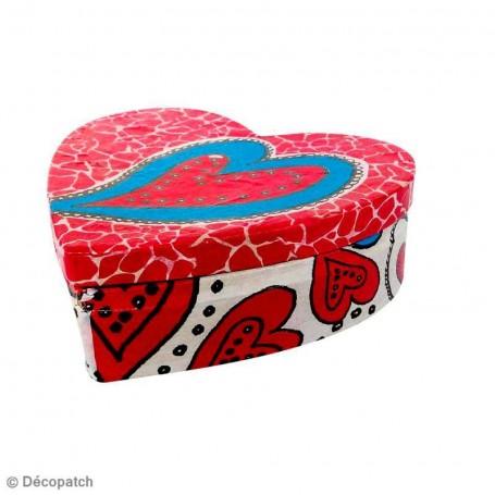 Set de 2 Cajas Corazón Décopatch