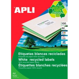 Etiquetas Apli 12061 Recicladas 70 x 37 mm