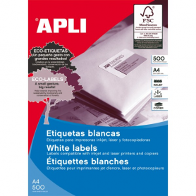 Etiquetas Apli 10558 Medidas 48,5 x 25,4 mm