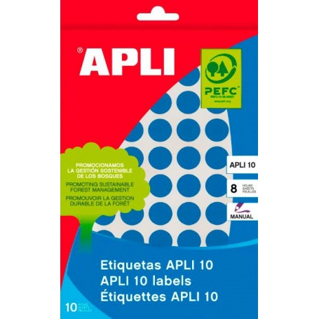 Etiquetas manuales Apli 2743 Azul