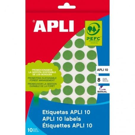 Etiquetas manuales Apli 2741 Verde