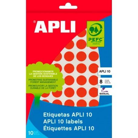 Etiquetas manuales Apli 2740 Rojo