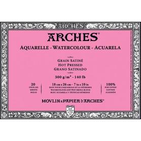 Bloc acuarela Arches Grano Satinado 18 x 26 cm 300 gr/m2