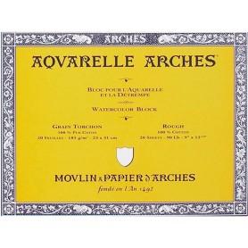 Bloc Acuarela Arches Grano Grueso 23 x 31 cm 185 gr/m2