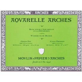 Bloc acuarela Arches Grano Fino 23 x 31 cm 185 gr/m2