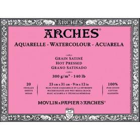 Bloc acuarela Arches Grano Satinado 23 x 31 cm 300 gr/m2