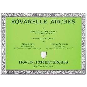 Bloc acuarela Arches Grano Fino 26 x 36 cm 185 gr/m2