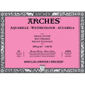 Bloc acuarela Arches Grano Satinado 26 x 36 cm 300 gr/m2