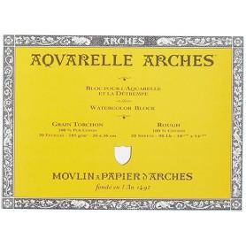 Bloc acuarela Arches Grano Grueso 31 x 41 cm 185 gr/m2