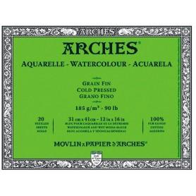 Bloc acuarela Arches Grano Fino 31 x 41 cm 185 gr/m2