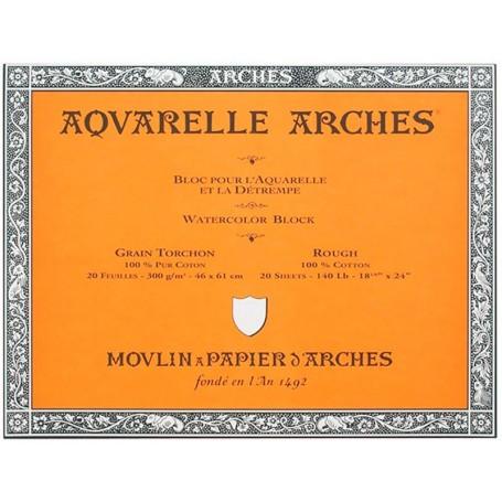 Bloc acuarela Arches Grano Grueso 46 x 61 cm 300 gr/m2