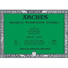 Bloc acuarela Arches Grano Fino 36 x 51 cm 300 gr/m2
