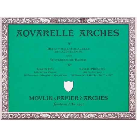Bloc acuarela Arches Grano Fino 46 x 61 cm 300 gr/m2