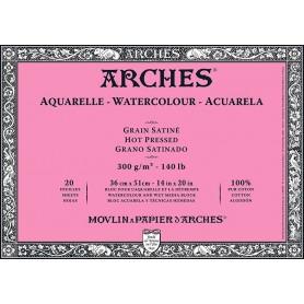 Bloc acuarela Arches Grano Satinado 36 x 51 cm 300 gr/m2