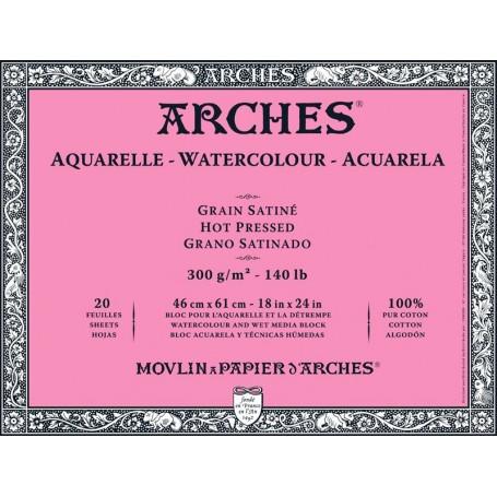 Bloc acuarela Arches Grano Satinado 46 x 61 cm 300 gr/m2