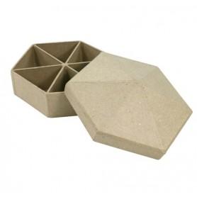 Caja compartimentos hexagono