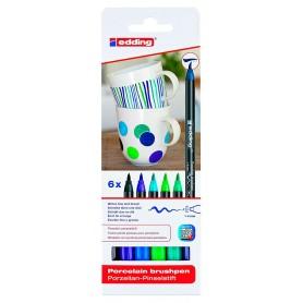 Edding 4200 Pack 6 rotuladores porcelana azul/verde