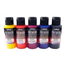 Acrílico Premium Vallejo estuche 5 colores transparentes