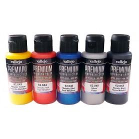 Acrílico Premium Vallejo estuche 5 colores metálicos
