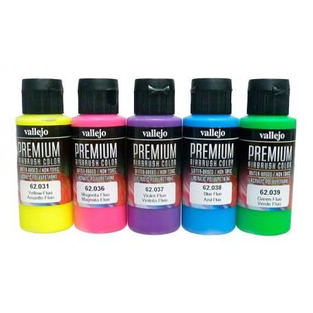Acrílico Premium Vallejo estuche 5 colores flúor