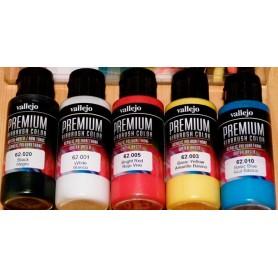 Acrílico Premium Vallejo estuche 5 colores opacos básicos