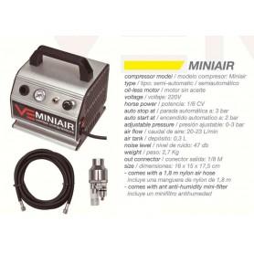 Compresor semiautomático MiniAir 1/6 HP , Ventus