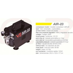 Compresor Automático Ventus Air-23 1/5 HP