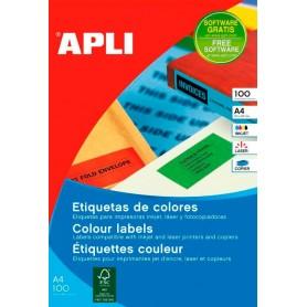 Etiquetas Apli Colores 70 x 37 mm