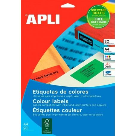 Etiquetas Apli Colores 105 x 37 mm