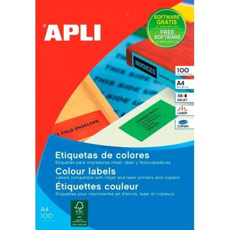 Etiquetas Apli Colores 210 x 297 mm
