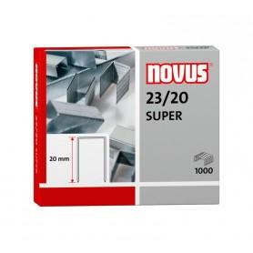 Grapas galvanizadas 23/20 , Caja 1000 unidades, Novus