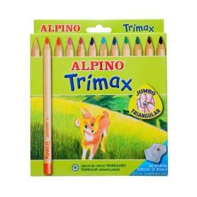Trimax Lápices 12 colores, Alpino