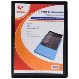 Carpeta Fundas Folio Personalizable Negro