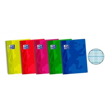 Cuaderno Milimetrado Folio Tapa Plástico, Oxford
