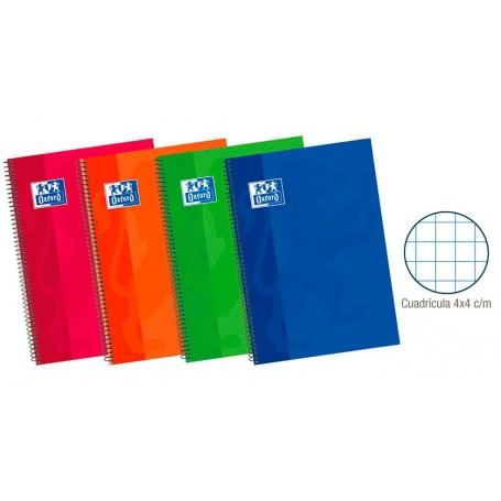 Cuaderno Espiral Oxford Tapa Extradura 4º Cuadriculado