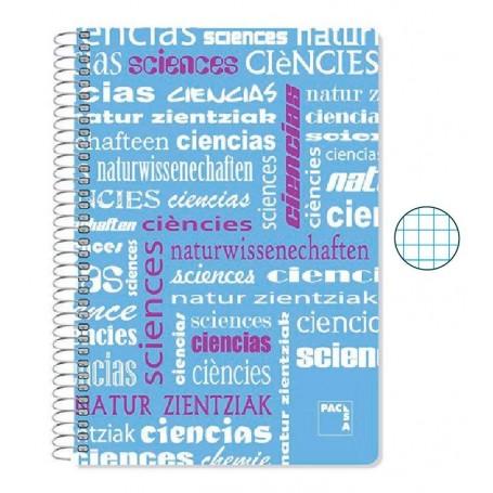 Cuaderno Folio Cuadriculado Ciencias