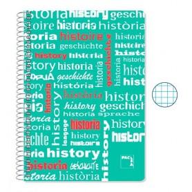 Cuaderno Folio Cuadriculado Historia