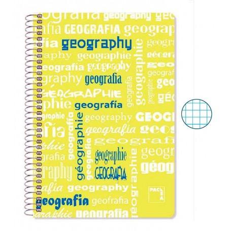 Cuaderno Folio Cuadriculado Geografía