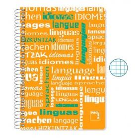 Cuaderno Folio Cuadriculado Idiomas
